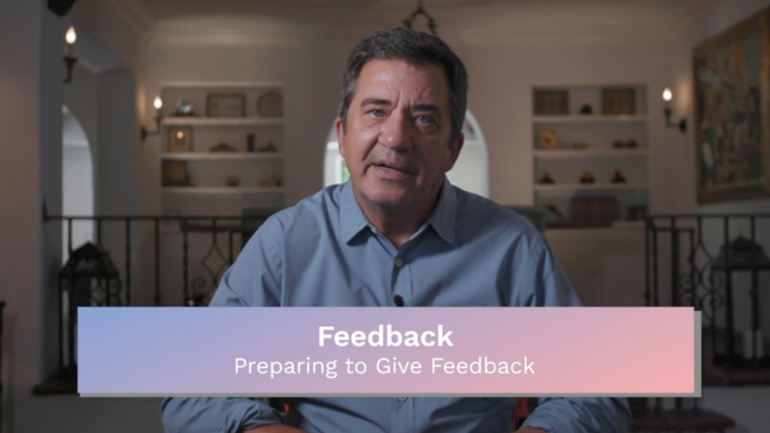 Feedback: Preparing to Give Feedback